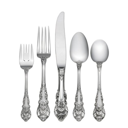 Wallace Sterling Silver Sir Christopher 5 Piece Dinner Flatware Set