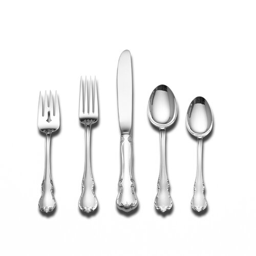 Towle Silversmiths Sterling Silver French Provincial 66 Piece Flatware Set