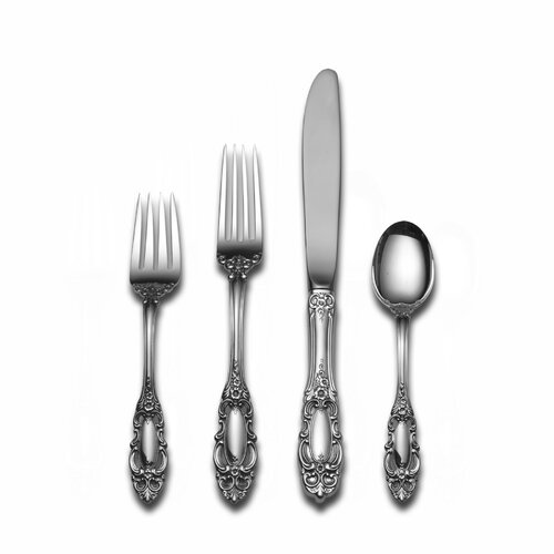 Towle Silversmiths Sterling Silver Grande Duchess 4 Piece Dinner Flatware Set