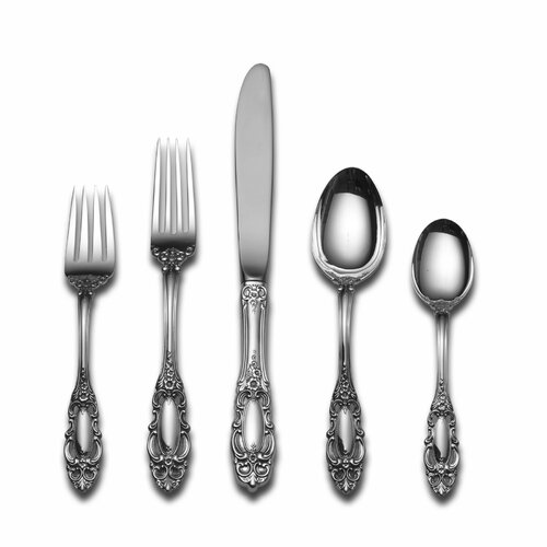 Towle Silversmiths Sterling Silver Grande Duchess 5 Piece Dinner Flatware Set