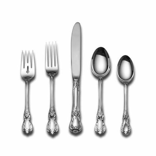 Towle Silversmiths Sterling Silver Old Master 46 Piece Flatware Set and Serving Setting