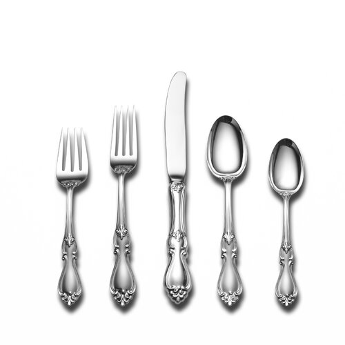 Towle Silversmiths Sterling Silver Queen Elizabeth 46 Piece Flatware Set and Serving Setting