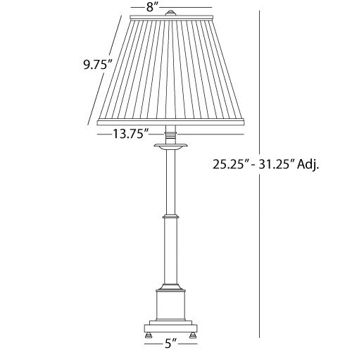 """Robert Abbey Kinetic Small 24.5"""" H Adjustable Table Lamp with Empire Shade"""