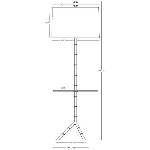 Robert Abbey Jonathan Adler Meurice Floor Lamp