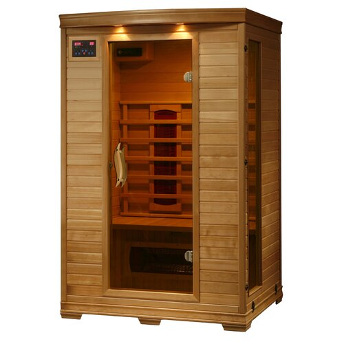 2 person ceramic far infrared sauna wayfair. Black Bedroom Furniture Sets. Home Design Ideas