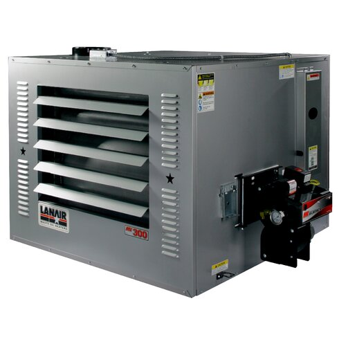MX-Series 300,000 BTU Waste Oil Heater with Roof Chimney and 80 gal Tank