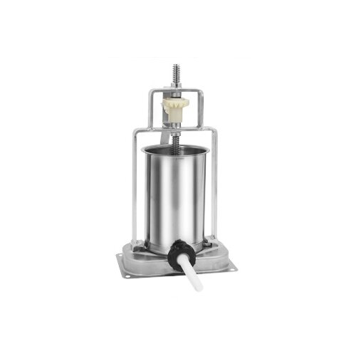 5 lbs Capacity Stainless Steel Stuffer with Cast Iron Frame