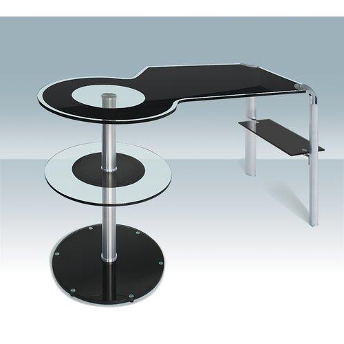 Creative Images International Glass Computer Desk