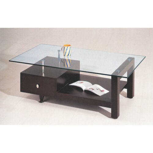 Creative Images International Glass Coffee Table