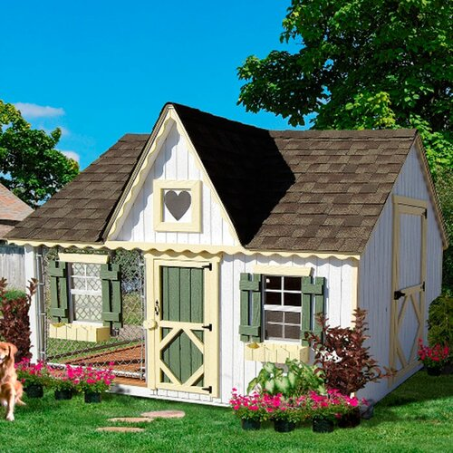 Victorian Cottage Kennel Dog House