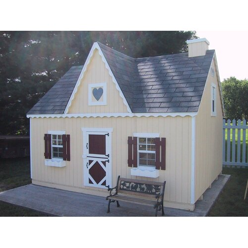 Victorian Backyard Floored Playhouse : Little Cottage Company Victorian Large Playhouse Kit with No Floor