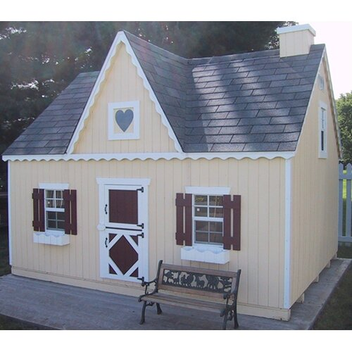 Victorian large playhouse kit with no floor wayfair Victorian cottages kit homes