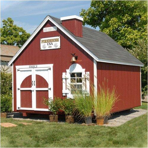 Little Cottage Company Firehouse Kit Playhouse