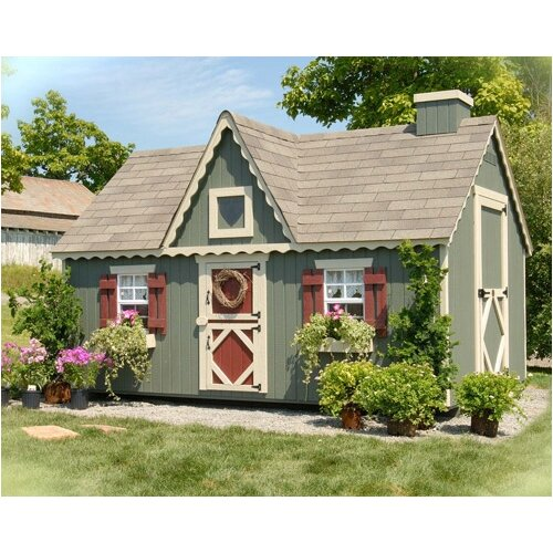 Little Cottage Company Victorian Playhouse Kit with Floor & Reviews