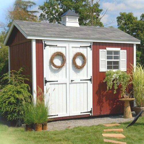 Little Cottage Company 8ft. W x 8ft. D Wood Garden Shed