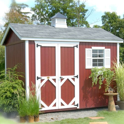 Little Cottage Company 8' W x 8' D Wood Garden Shed