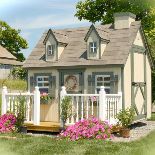 Little Cottage Company Playhouses Wooden Victorian Outdoor Playhouse