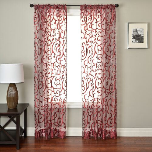Softline Home Fashions Abel Rod Pocket Curtain Single Panel
