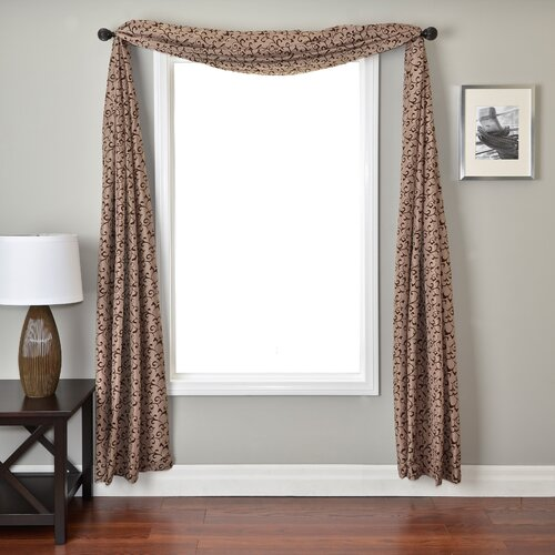 Softline Home Fashions Sava 6 Yard Single Window Scarf