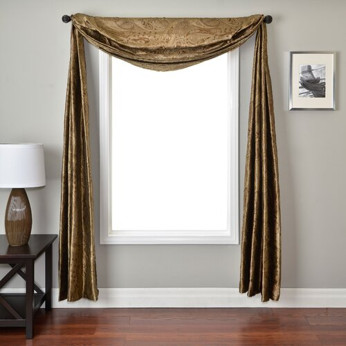 Softline Home Fashions Moretto 6 Yard Single Window Scarf
