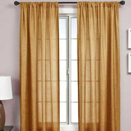 Softline Home Fashions Gigi Rod Pocket Curtain Single Panel