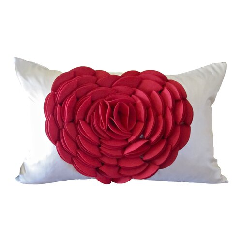 Rose Petals Heart Pillow