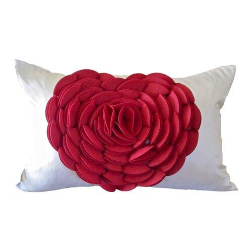Rose Petals Heart Pillow
