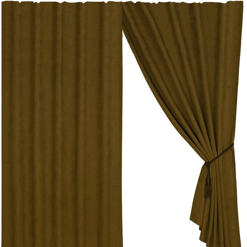 Black Pine Suede Curtain in Tan