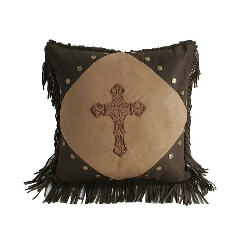 HiEnd Accents Crosses Diamond Accent Pillow