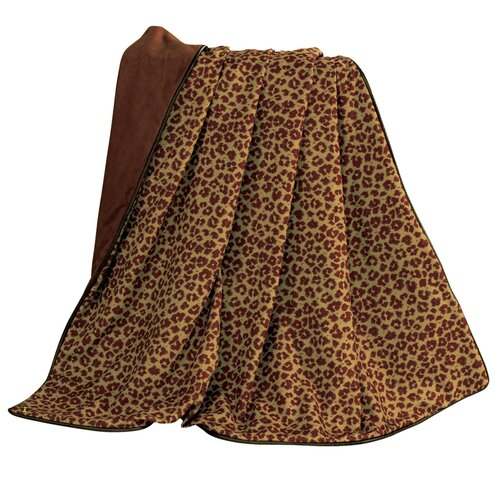 HiEnd Accents Austin Leopard Faux Leather Throw