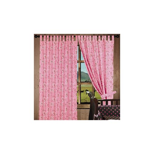 HiEnd Accents Pink Paisley Tab Top Curtains Panel