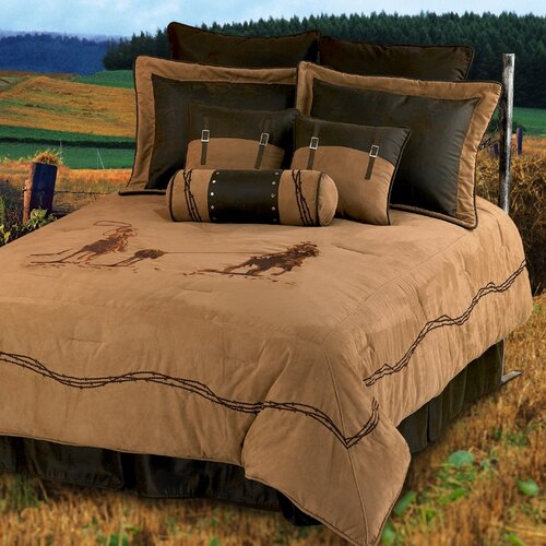 HiEnd Accents Team Roping 7 Piece Comforter Set