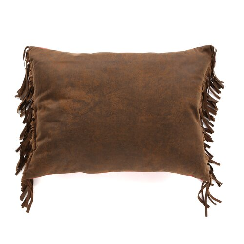 HiEnd Accents Cheyenne Faux Tooled Leather Polyester Pillow