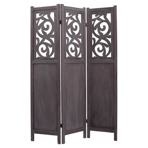"Screen Gems 67"" x 47"" Recoiled 3 Panel Room Divider"