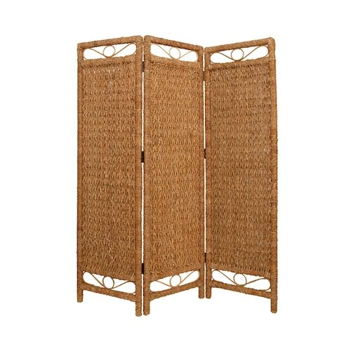 "Screen Gems 73"" x 60"" Cascading Palm Screen 3 Panel Room Divider"