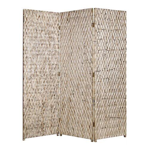 "Screen Gems 74"" x 63"" Sterling Screen 3 Panel Room Divider"
