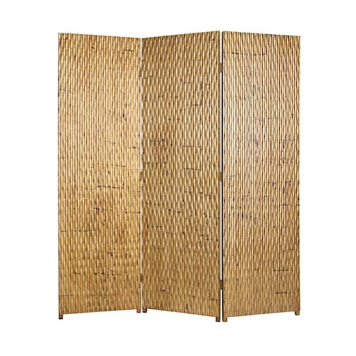 "Screen Gems 74"" x 63"" Gilded Screen 3 Panel Room Divider"