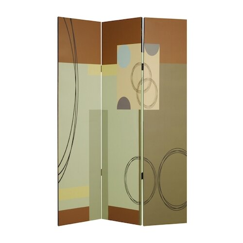 "Screen Gems 73"" x 48"" Haily Screen 3 Panel Room Divider"