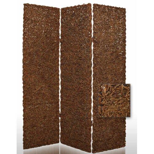 "Screen Gems 72"" x 60"" Root Decorative 3 Panel Room Divider"