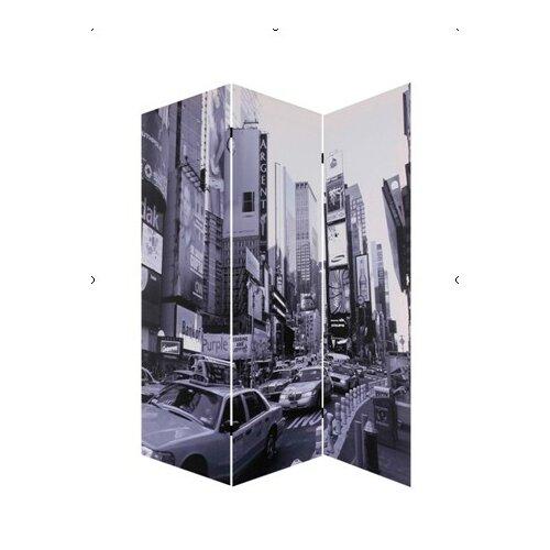 "Screen Gems 72"" x 48"" New York City Screen 3 Panel Room Divider"