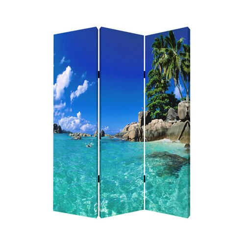 "Screen Gems 71"" x 47"" Paradise Screen 3 Panel Room Divider"