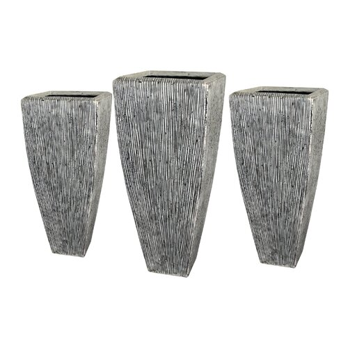 Screen Gems Sandstone Long Square Planters (Set of 3)