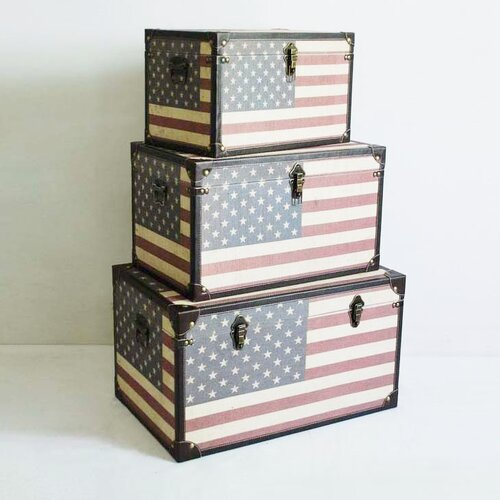 Screen Gems Americana Trunk (Set of 3)