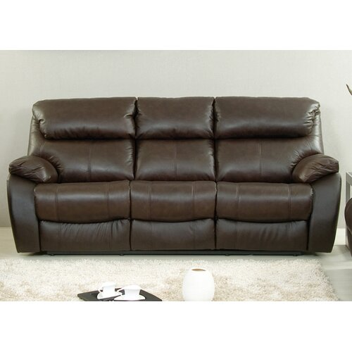 AC Pacific Jonathan Leather Reclining Sofa