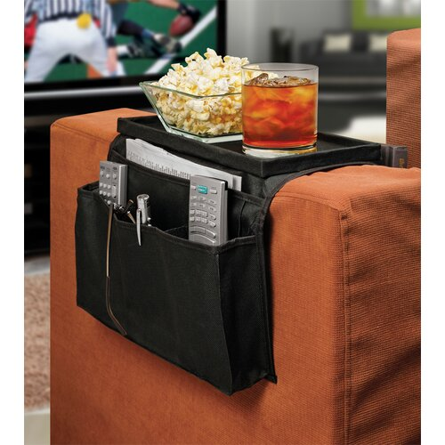Ideas In Motion 6 Pocket Sofa Couch Arm Rest Organizer with Table-Top