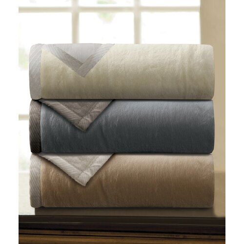 DownTown Company Reversible Throw Cotton Blanket