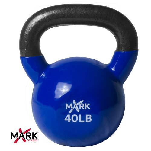 X-Mark 40 lb Premium Vinyl Coated Kettlebell