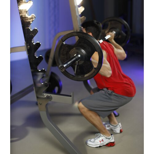 X-Mark Commercial Power Rack with Plate Weight Storage