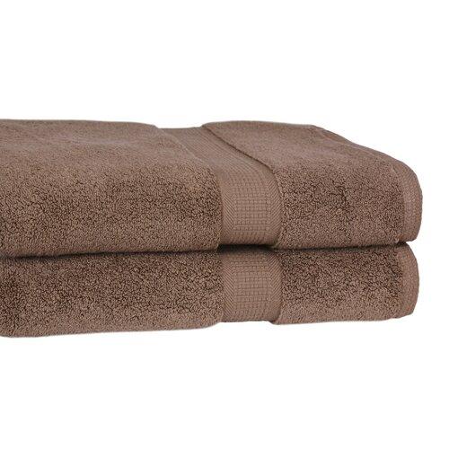 Calcot Ltd. 100% Supima Zero-Twist Cotton 2-Piece Oversized Bath Sheet/Towel Set