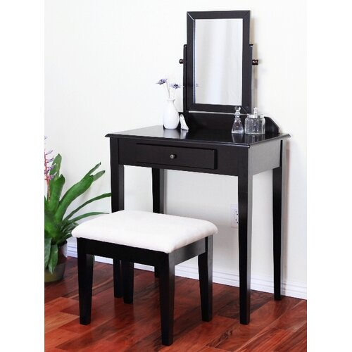 Mega Home Contemporary Vanity Set with Mirror